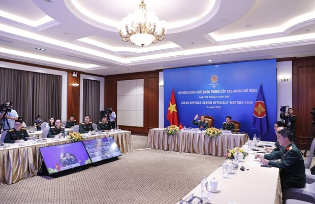 Efectuan reunion virtual de Altos Funcionarios de Defensa de la ASEAN hinh anh 2