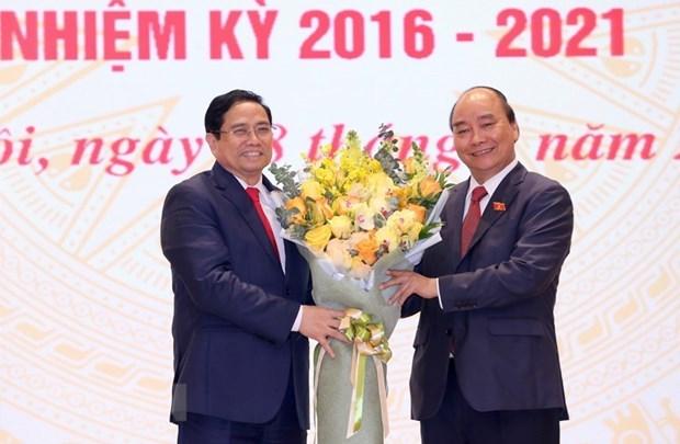 Efectuan ceremonia de traspaso de funciones al nuevo Primer Ministro hinh anh 1