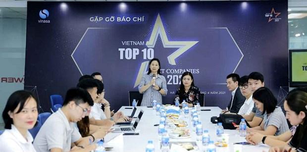Lanzan programa de 10 empresas vietnamitas lideres de informatica hinh anh 1