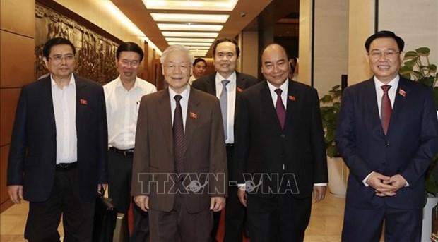 Lideres de paises congratulan a nuevos dirigentes de Vietnam hinh anh 1