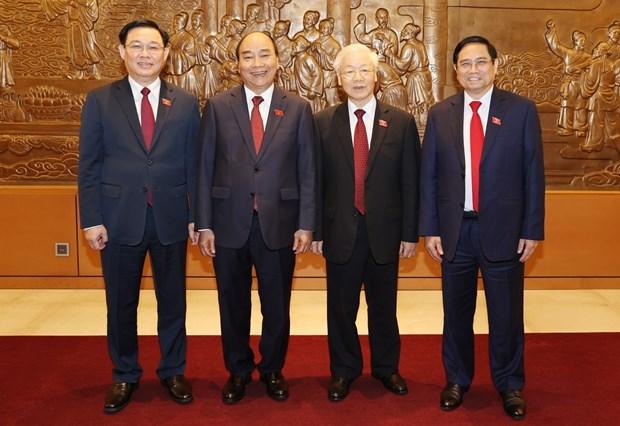 Continuan llegando cartas de felicitacion a nuevos dirigentes de Vietnam hinh anh 1