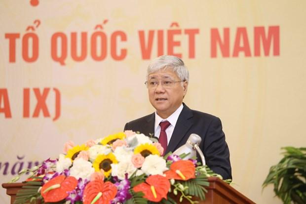 Nombran a nuevo presidente del Frente de la Patria de Vietnam hinh anh 1