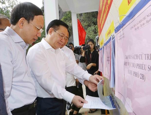 Revisan preparativos de elecciones en provincia vietnamita de Quang Ninh hinh anh 1