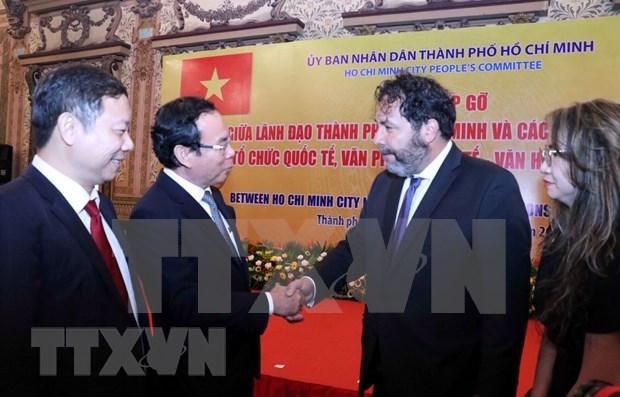 Ciudad Ho Chi Minh refuerza la cooperacion con socios extranjeros hinh anh 1