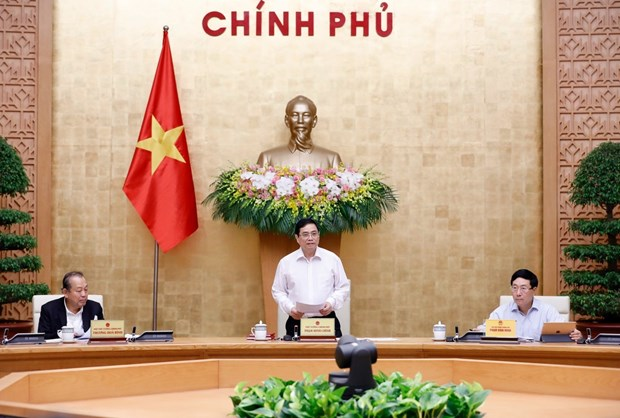 Premier Pham Minh Chinh preside reunion sobre el trabajo del Gobierno hinh anh 1
