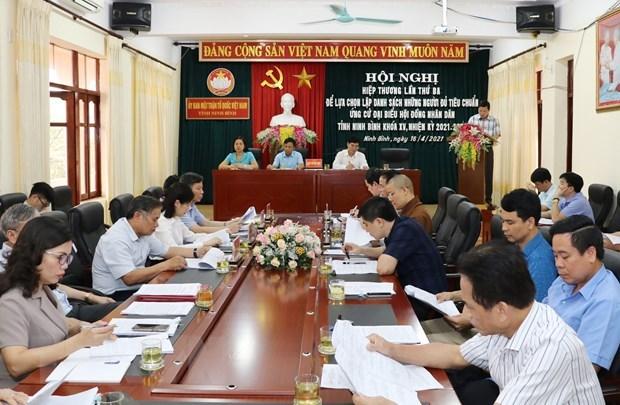 Localidades completan listas de candidatos para elecciones parlamentarias y de los Consejos Populares hinh anh 2