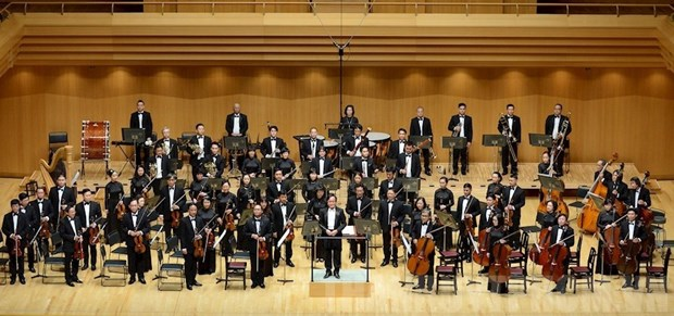Beethoven, Bruch y Brahms, a conectar un centenar de artistas del norte y sur de Vietnam hinh anh 1