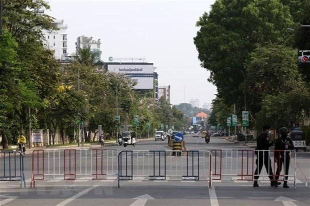 """Capital de Camboya establece """"zonas rojas"""" del COVID-19 hinh anh 1"""