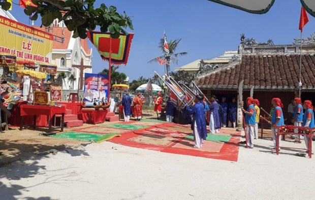 Celebran ritual de homenaje a milicianos de Hoang Sa en Vietnam hinh anh 1