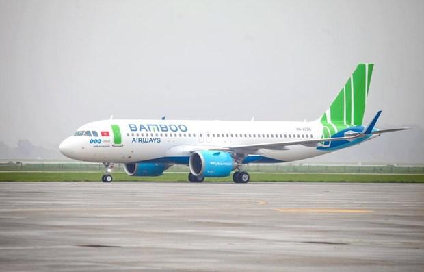 Bamboo Airways patrocina vuelos de selecciones nacionales de futbol por tres anos hinh anh 1