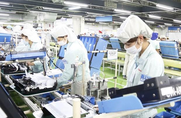 Exportaciones de Hanoi caen ligeramente en primer trimestre hinh anh 1