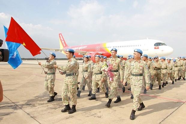 Parte a Sudan del Sur personal de tercer hospital de campana de Vietnam hinh anh 1