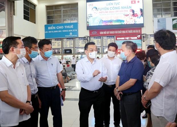 Hanoi inspecciona labores de lucha antiCOVID-19 hinh anh 1