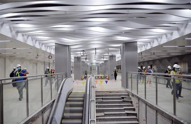 Completan el piso B1 de linea 1 de metro en Ciudad Ho Chi Minh hinh anh 1