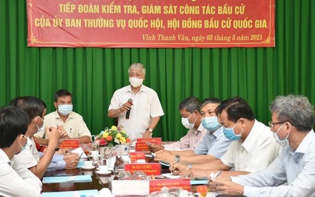 Revisan preparativos para las elecciones legislativas en Kien Giang y Phu Yen hinh anh 1