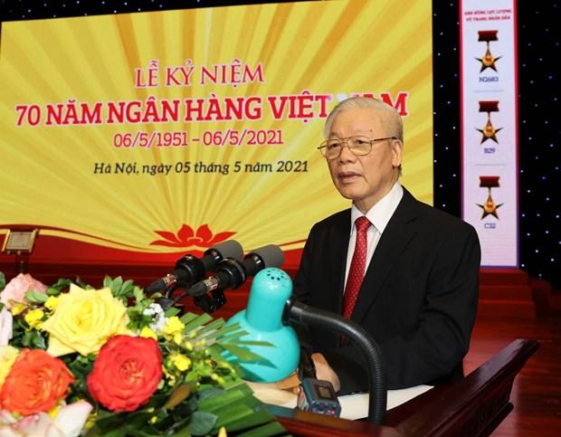 Enaltecen aportes del sector bancario al desarrollo economico de Vietnam hinh anh 1