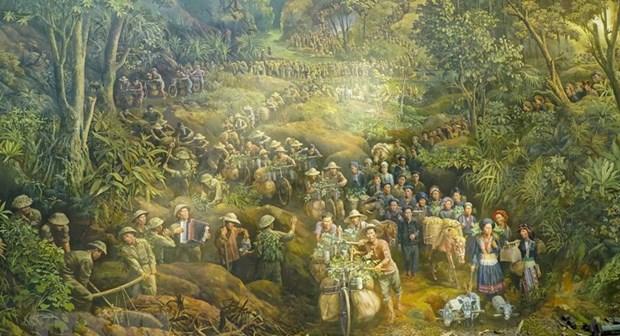 Concluida pintura panoramica sobre historica batalla Dien Bien Phu hinh anh 1