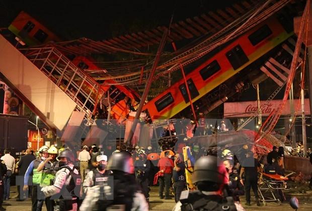 Vietnam envia condolencias a Mexico por accidente en linea del metro hinh anh 1
