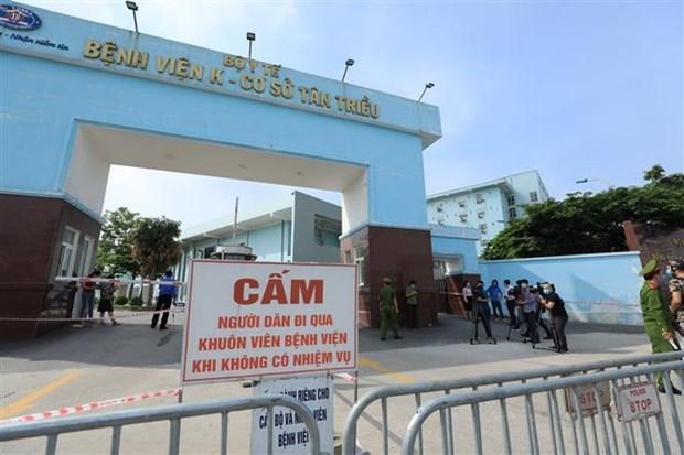 Aplican bloqueo temporal a Hospital Nacional Oncologico de Vietnam por COVID-19 hinh anh 1