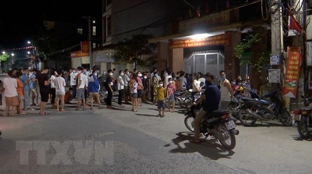 Provincia de Bac Ninh aplica distanciamiento social en distrito de Thuan Thanh hinh anh 1