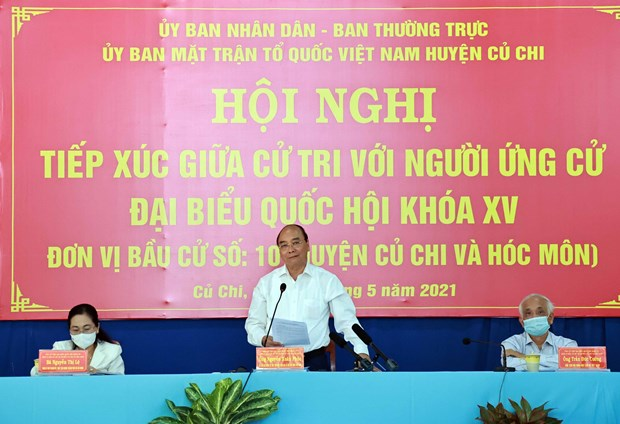 Presidente de Vietnam se reune con votantes de Ciudad Ho Chi Minh hinh anh 1