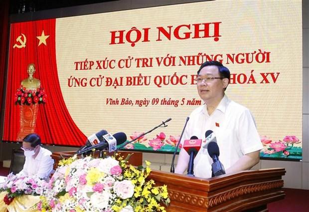Presidente del Parlamento vietnamita se reune con votantes de Hai Phong hinh anh 1