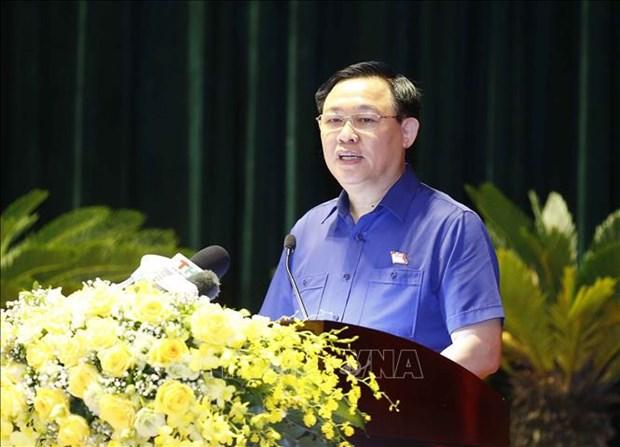 Presidente del Parlamento de Vietnam se reune con votantes de Hai Phong hinh anh 2