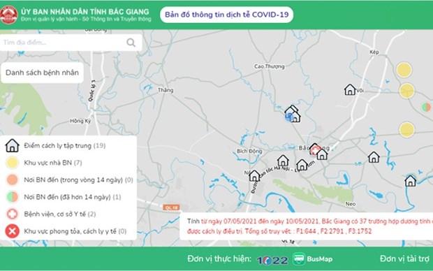 Provincia vietnamita pone en funcionamiento mapa epidemiologico digital hinh anh 1