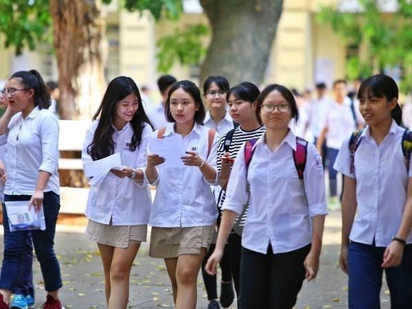 Mas de un millon de alumnos se inscriben para examen de bachillerato en Vietnam hinh anh 1