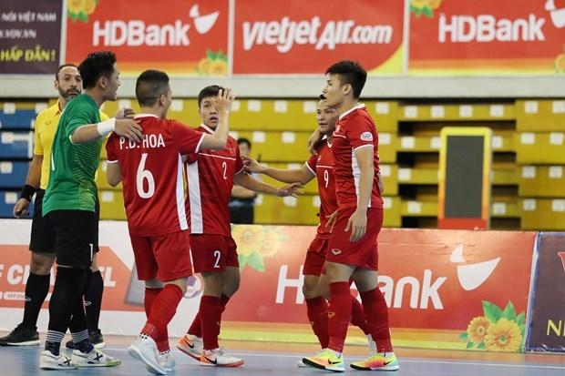 Seleccion vietnamita de futsal coloca a dos partidos de clasificar a la Copa Mundial hinh anh 1