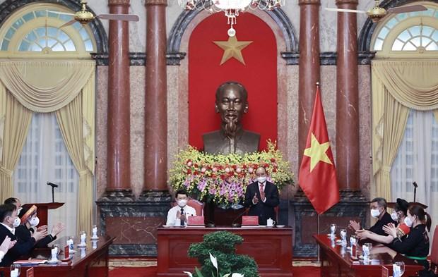 Presidente vietnamita pide mayor atencion a etnias minoritarias en provincia de Bac Giang hinh anh 2