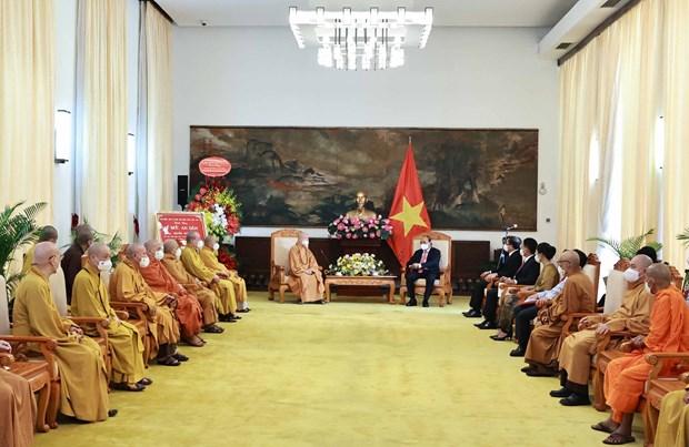 Presidente vietnamita destaca aportes de la Sangha Budista al desarrollo nacional hinh anh 1