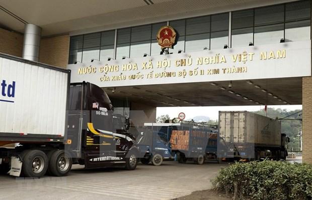 Vietnam trabaja para garantizar la circulacion fluida de mercancias a traves de puertas fronterizas terrestres hinh anh 1
