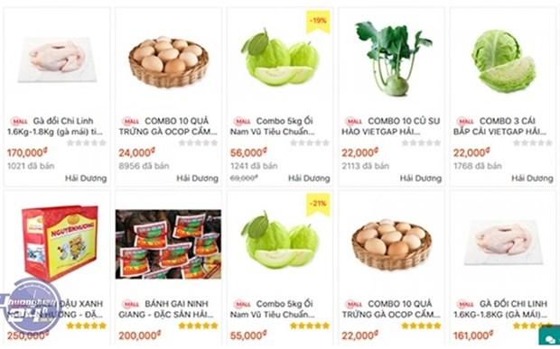 Vietnam impulsa comercio electronico de productos agricolas en medio de COVID-19 hinh anh 1