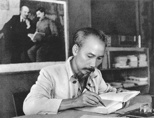 Efectuan exposicion fotografica sobre presidente Ho Chi Minh en provincia vietnamita de Thai Nguyen hinh anh 1