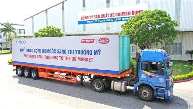 Exportaciones de semirremolques de THACO al mercado estadounidense se disparan hinh anh 1
