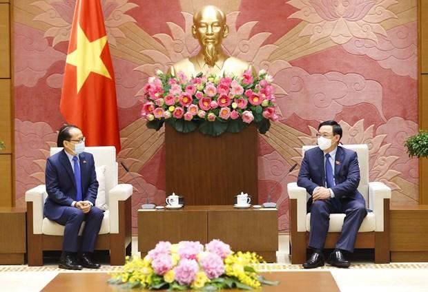Presidente del Parlamento de Vietnam destaca relaciones de amistad con Camboya hinh anh 1