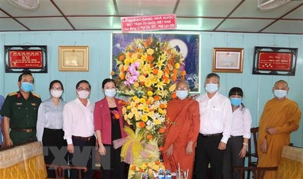 Frente de Patria de Vietnam enaltece aportes de Sangha Budista al desarrollo nacional hinh anh 1
