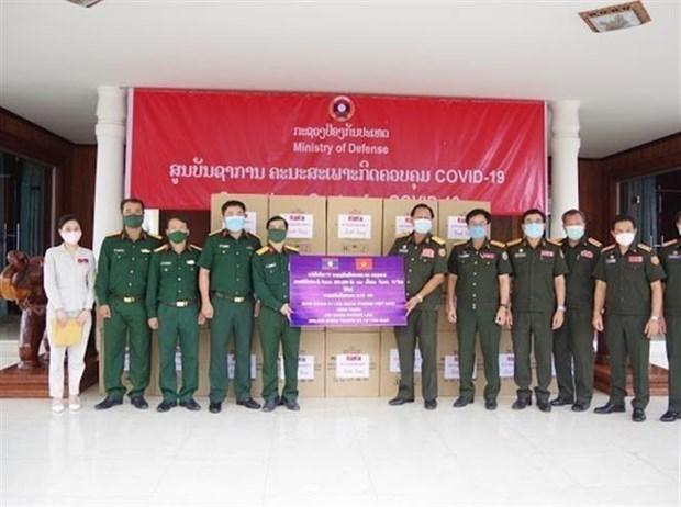 Continuan llegada de donaciones de Vietnam a la lucha antipandemica en Laos hinh anh 1