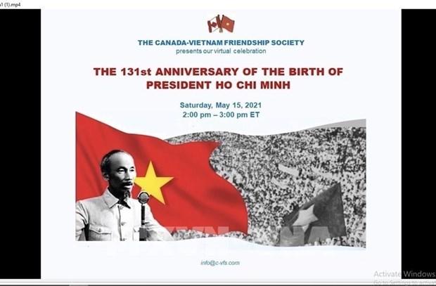 Conmemoran en Canada vida revolucionaria del Presidente Ho Chi Minh hinh anh 1