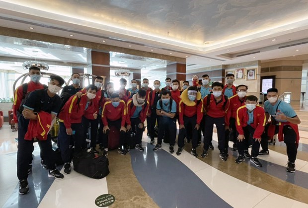 Seleccion vietnamita llega a EAU para buscar boleto a Copa Mundial de Futsal hinh anh 1