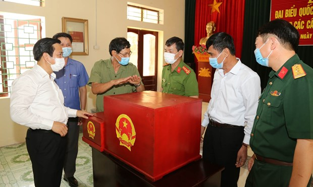 Presidente del Parlamento vietnamita preside teleconferencia nacional sobre trabajo electoral hinh anh 1