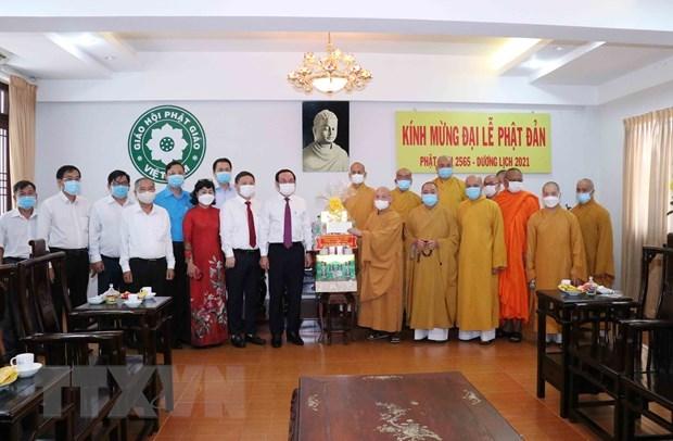 Resaltan esfuerzos de Sangha Budista de Vietnam en desarrollo de Ciudad Ho Chi Minh hinh anh 1