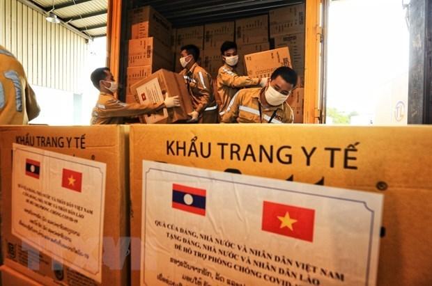 Vietnam continua ofreciendo asistencia a laosianos afectados por el COVID-19 hinh anh 1