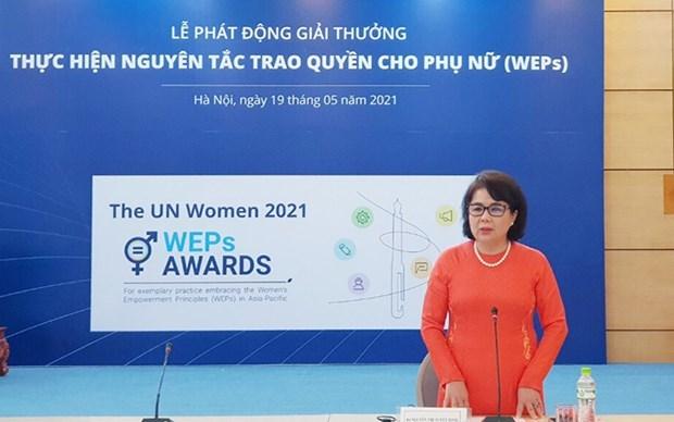 Vietnam lanza premio de los principios de empoderamiento de las mujeres 2021 hinh anh 1