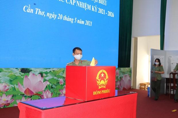 Organizaran votacion anticipada en colegios electorales de 16 localidades vietnamitas hinh anh 1