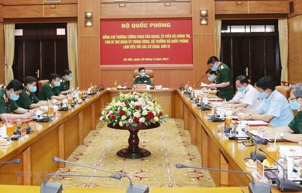 Ejercito vietnamita listo para garantizar la seguridad de elecciones legislativas hinh anh 1