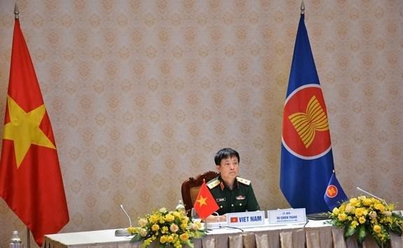 Organizan reunion en linea del Grupo de Trabajo de Altos Funcionarios de Defensa de la ASEAN hinh anh 1