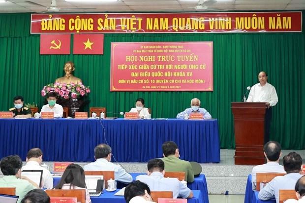 Dialoga presidente de Vietnam con electores en Ciudad Ho Chi Minh hinh anh 1