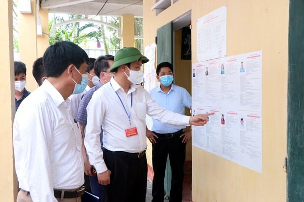Provincia vietnamita de Hai Duong endurece medidas antiepidemicas para garantizar seguridad de elecciones hinh anh 1